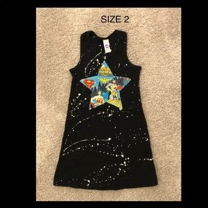 Girls boutique superhero  tank dress size 2